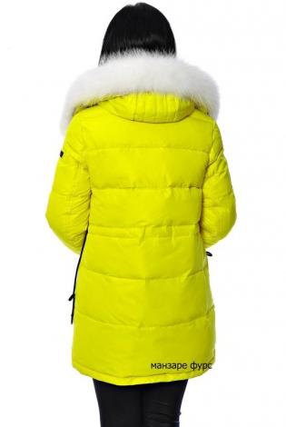 Зимняя куртка желтая