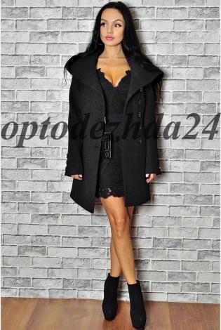 Пальто с капюшоном черный