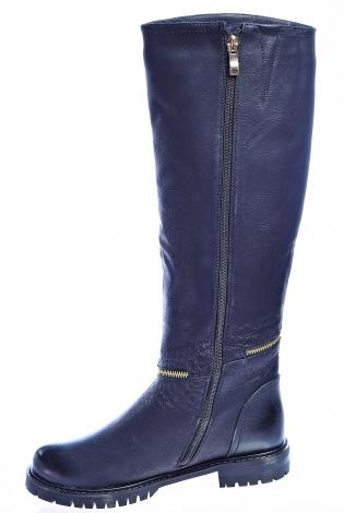 Темно-синие сапоги