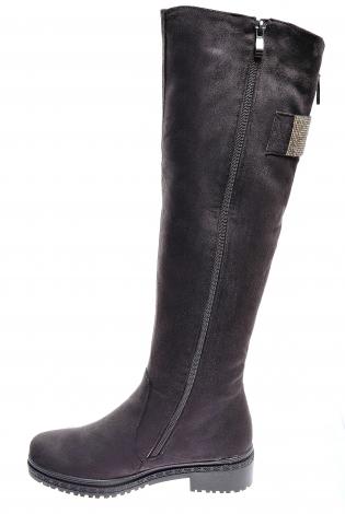 Темно-коричневые сапоги