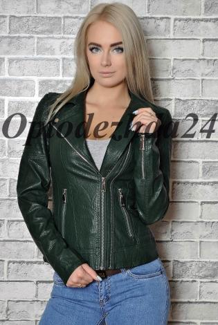 Куртка из экокожи зеленый