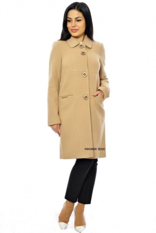 Пальто из кашемира бежевое