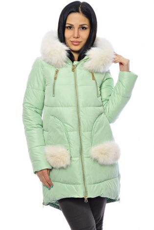 Зимняя куртка мятная
