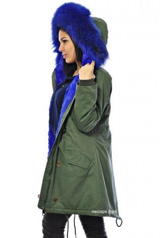 Зимняя куртка (парка) темно-зеленая