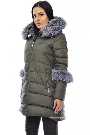 Зимняя куртка хаки