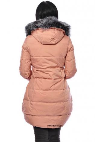 Зимняя куртка персиковая