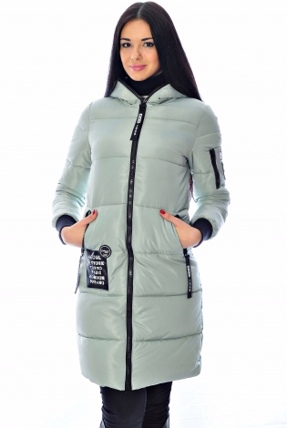 Зимняя куртка серо-голубая
