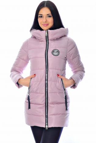 Зимняя куртка сиреневая