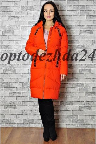 Зимняя куртка  светло- красный