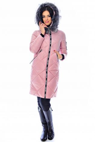 Зимняя куртка розовая