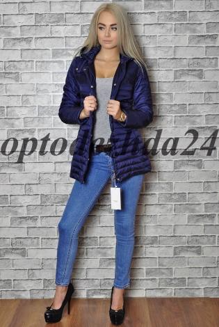 куртка на синтепон темный синий