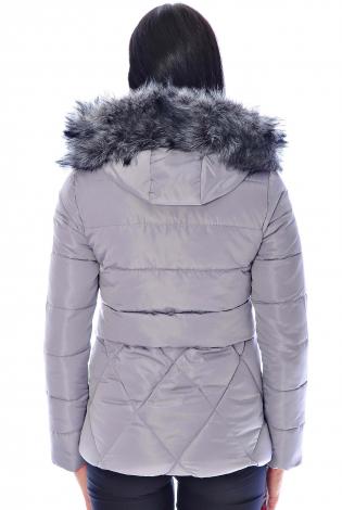 Зимняя куртка сирень