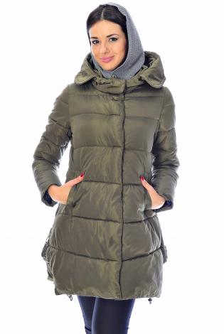 Зимняя куртка темно-зеленая
