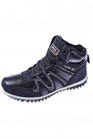 Темно-синие ботинки