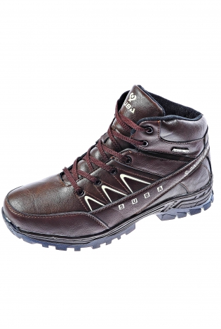 Темно-коричневые ботинки