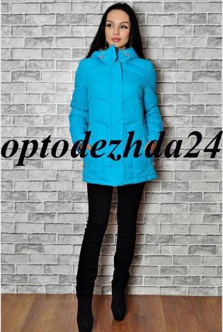 куртка на синтепон светло- голубой
