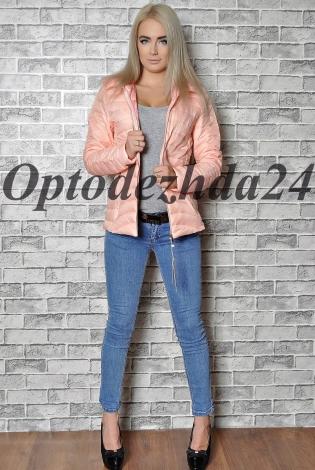 куртка на синтепон  розовая пудра