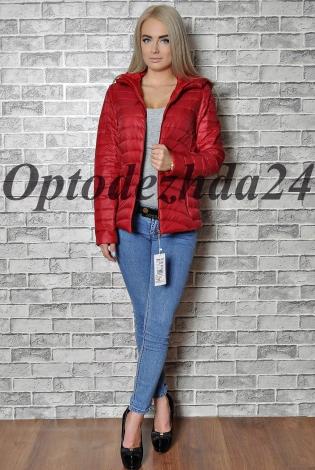 Куртка на Синтепон красный-бордовый
