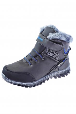 Темно-серые ботинки