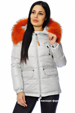 Зимняя куртка серая