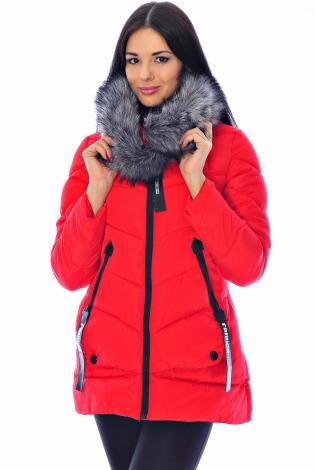 Зимняя куртка красная
