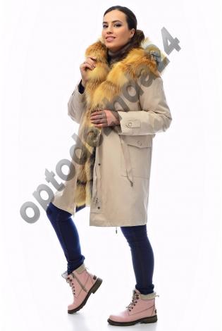 Парка с мехом лисы