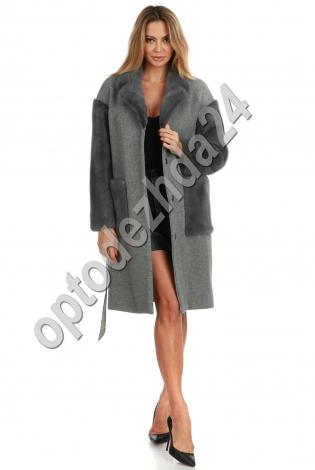 Кашемировое пальто с норкой