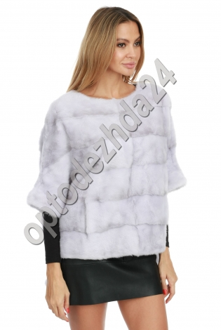 Жилет-свитер из норки