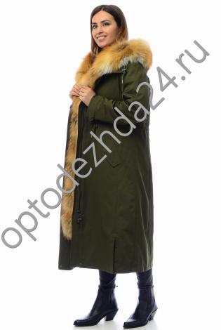 Парка с мехом лисы 110 см